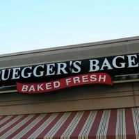 Photo taken at Bruegger's by Christine M. on 3/27/2012