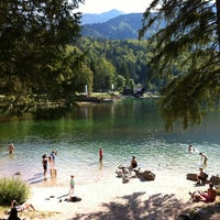 Photo taken at Bohinjsko jezero (Bohinj Lake) by Alexander A. on 8/1/2012