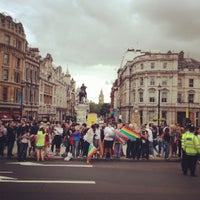 Photo taken at World Pride London 2012 by Greg O. on 7/7/2012