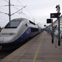 Photo taken at Avignon TGV Railway Station by Guy M. on 4/18/2012