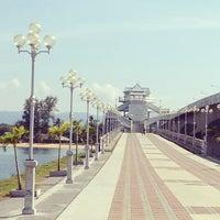 Photo taken at Sarasin Bridge by Nuttapol M. on 4/15/2012