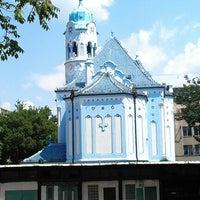 Photo taken at Kostol sv. Alžbety (The Blue Church) by Jaroslava P. on 7/27/2012