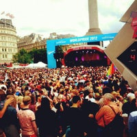 Photo taken at World Pride London 2012 by Danton T. on 7/7/2012