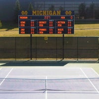 Photo taken at University of Michigan Varsity Tennis Center by Bryan W. on 3/17/2012