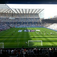 Photo taken at St James' Park by Harry G. on 8/18/2012