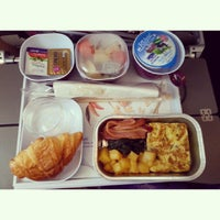 Photo taken at Thai Airways Flight TG 676 BKK-NRT by Rita R. on 2/22/2015