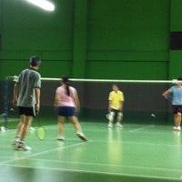 Photo taken at BJGCR Badminton Court by Ysoon N. on 5/11/2013