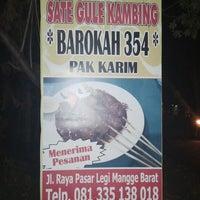 Photo taken at Sate Gule Kambing Barokah 354 Pak Karim by tommy i. on 8/6/2013