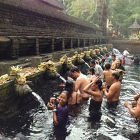 Photo taken at Pura Tirta Empul (Tirta Empul Temple) by Olivier P. on 7/6/2013