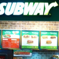 Photo taken at SUBWAY by H K T. on 12/17/2012