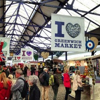 Photo taken at Greenwich Market by Hani A. on 5/8/2013