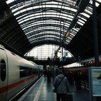 Photo taken at Frankfurt (Main) Hauptbahnhof by Marie G. on 10/29/2013