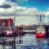 Photo taken at Hafen von Fedderwardersiel by Katherin T. on 3/26/2013