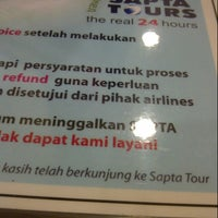 Photo taken at Sapta Tours Travel and Adventure by ayu l. on 10/4/2013