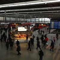 Photo taken at München Hauptbahnhof by Toni B. on 2/5/2013