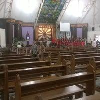 Photo taken at Gereja Katolik Santa Monika by Leo T. on 3/27/2016