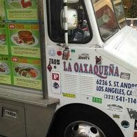 Photo taken at La Oaxaqueña Taco Truck by Cameron Burgess @. on 8/7/2014