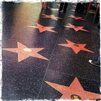Photo taken at Hollywood Walk of Fame by Mark P. on 4/14/2013