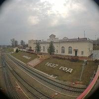 Photo taken at Станция Ефремов by Maks K. on 4/16/2015