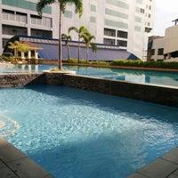 Photo taken at Gateway Regency Swimming Pool by Celine B. on 12/25/2014