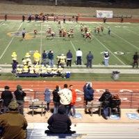 Photo taken at Coronado Football Stadium by Juan G. on 12/15/2013