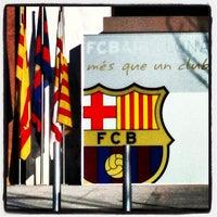 Photo taken at Museu Futbol Club Barcelona by Flavia D. on 1/6/2013