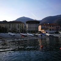 Photo taken at Lungolago di Cernobbio by Biliana R. on 3/25/2018