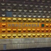 Photo taken at Metro =A= Hradčanská by Stefano P. on 1/6/2018