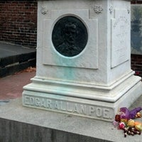 Photo taken at Grave of Edgar Allan Poe by Brandon G. on 11/3/2012