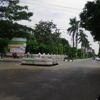 Photo taken at Lapangan Mataram by Ariis T. on 4/3/2014