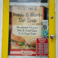 Photo taken at Riddle & Martin Sub shop by Kareem N. on 4/1/2016