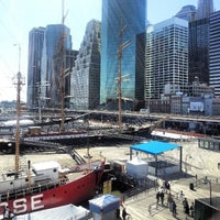 Photo taken at South Street Seaport by Jermaine R. on 4/25/2013