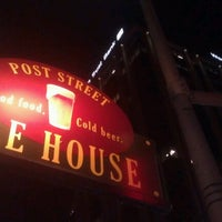 Photo taken at Post Street Ale House by Bryan B. on 9/21/2012