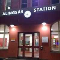 Photo taken at Alingsås Station by Olof L. on 10/31/2014