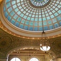 Photo taken at Tiffany Dome At The Chicago Cultural Center by Lingy M. on 10/30/2015