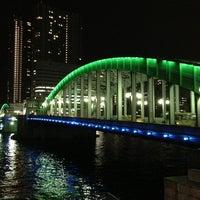 Photo taken at Kachidoki Bridge by Hideaki I. on 1/15/2013