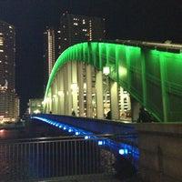Photo taken at Kachidoki Bridge by Hideaki I. on 12/26/2012