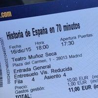 Photo taken at Teatro Muñoz Seca by Luciana O. on 12/16/2015