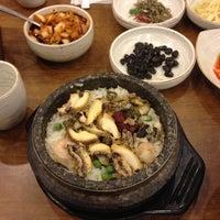 Photo taken at 서귀포 오분작 전복 뚝배기 by sunghee k. on 8/4/2013
