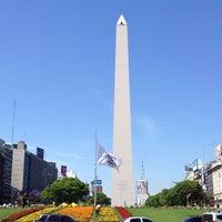 Photo taken at Obelisco - Plaza de la República by Bruno B. on 11/8/2012