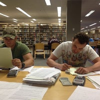 Photo taken at Duane G Meyer Library by Lyssa F. on 5/14/2014