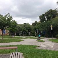 Photo taken at Dopravní hřiště Třeboň by Romana M. on 8/11/2014