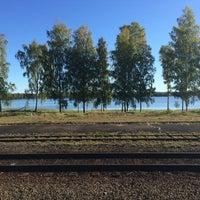 Photo taken at Hultsfreds järnvägsstation by Brynja S. on 9/27/2015