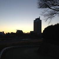 Photo taken at 中央大橋 by Naoki on 12/31/2012
