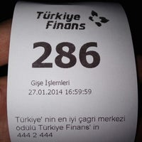 Photo taken at Türkiye Finans by Kadir G. on 1/27/2014