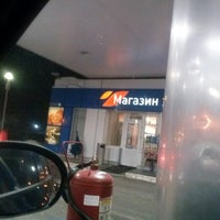 Photo taken at Газпромнефть АЗС № 310 by Ирина В. on 2/1/2014