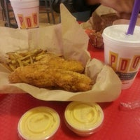 Photo taken at PDQ Tenders Salads & Sandwiches by Kourtney J. on 3/3/2013