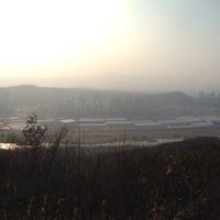 Photo taken at 도솔산 정상 by Ji-hoon K. on 3/17/2014
