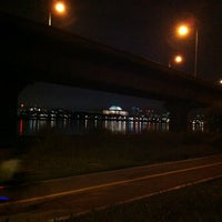 Photo taken at Han River Bicycle Path 한강 자전거도로 by 버럭 쭈. on 8/25/2012