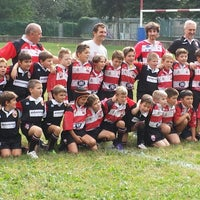 Photo taken at Rugby Rho 1947 by Ruggiero D. on 9/20/2014